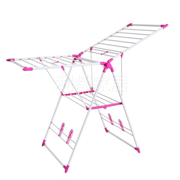 翼型伸缩折叠落地晾衣架