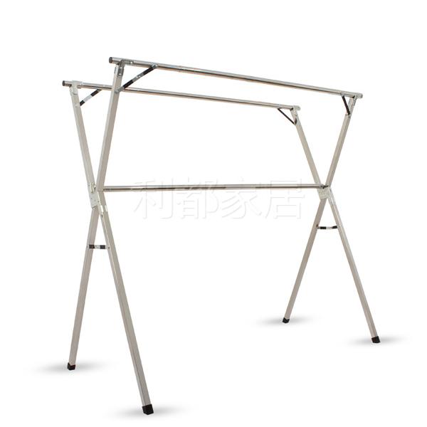 不锈钢X型落地折叠晾衣架